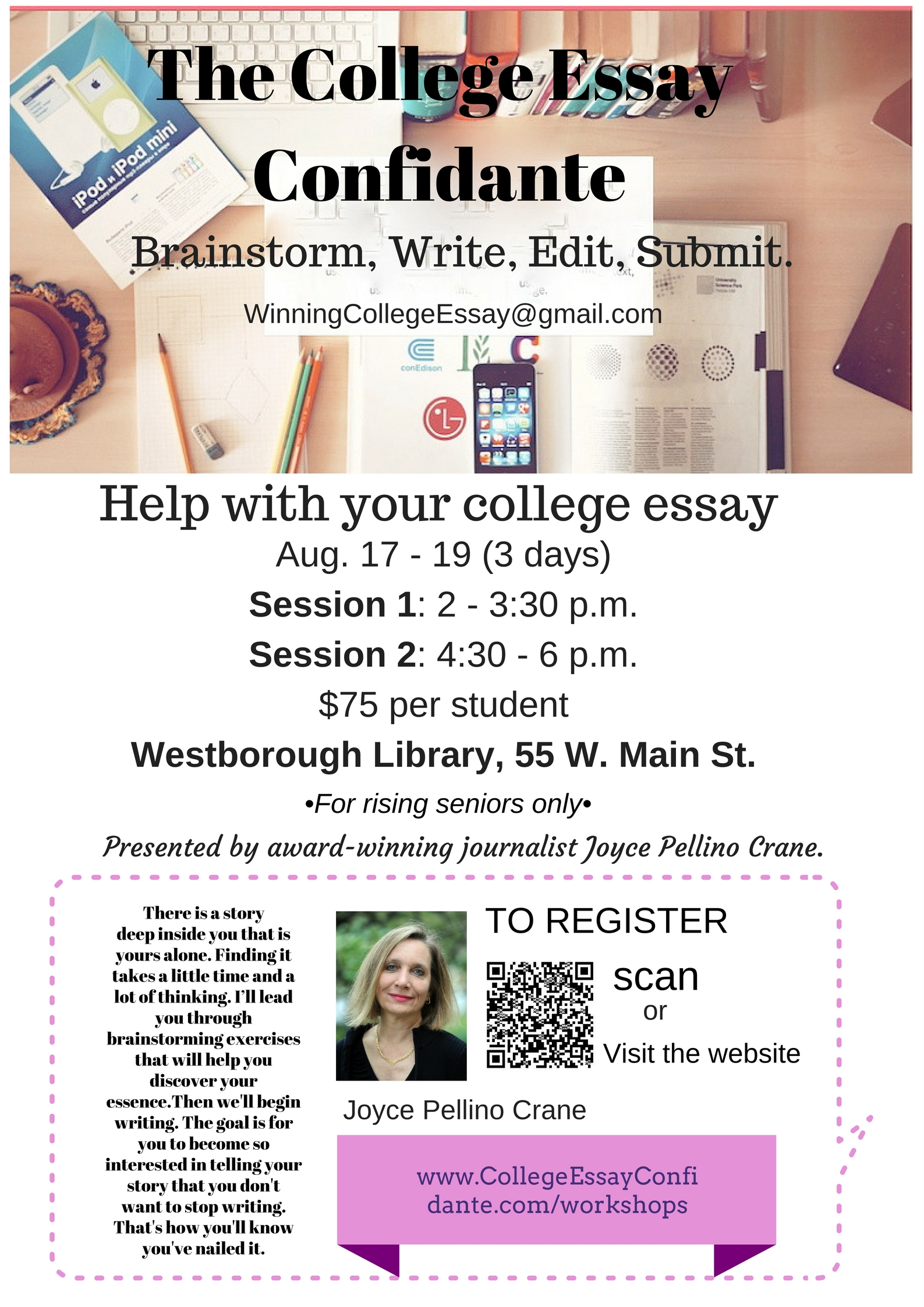 the college essay confidante page help your college poster westborough library 75